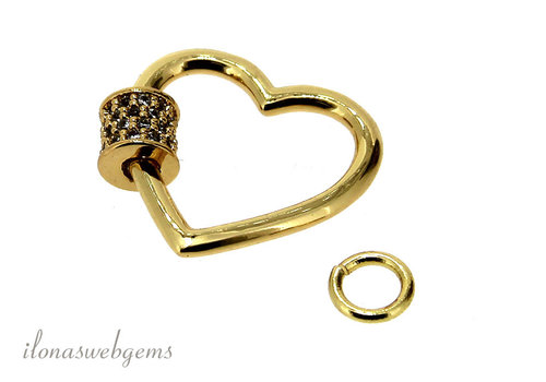DQ Slot heart around 20x18mm with eye