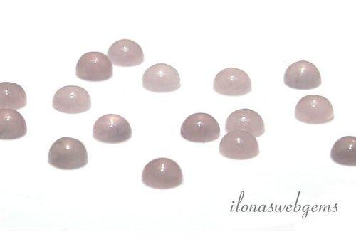 Rose quartz cabochon approx. 2mm