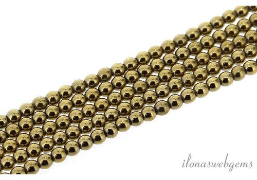 Hematiet kralen / spacers rond ca. 2.5mm