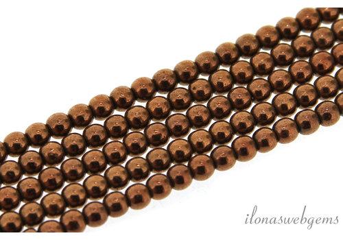 Hematiet kralen / spacers rond ca. 3.3mm