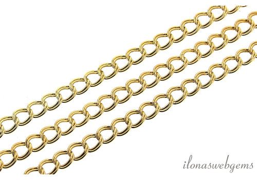 1 cm 14k / 20 Gold filled links / chain approx. 5.2x4.3mm