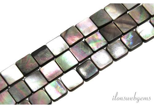 Black lip shell beads square around 10x3mm