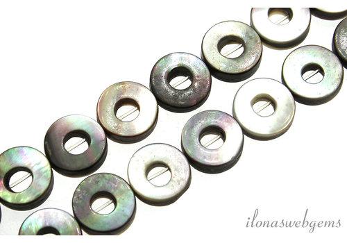 Schwarze Lippen Muschel Perlen Münze um 12x4mm