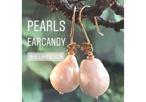 Inspiratie oorbellen roze parels