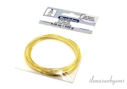 Beadalon memory wire goud armband