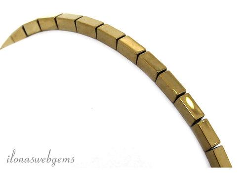 Hematiet kralen armbandje ca. 4x2mm