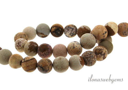 Woestijn jaspis kralen mat ca. 8mm