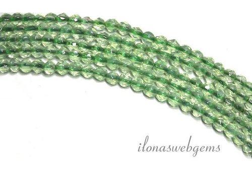 Aventurine beads mini faceted round. around 2 mm