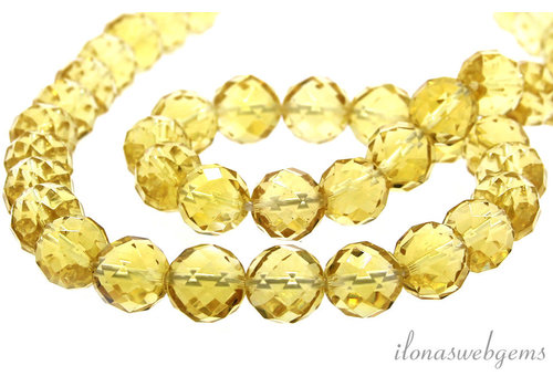 Citrine beads faceted around 8mm