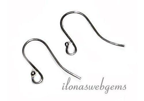 1 paar Sterling zilveren oorhaakjes ca. 20mm