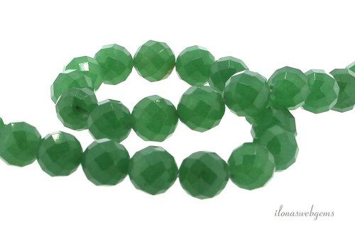 Aventurine beads faceted around 12mm