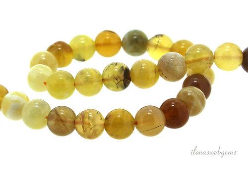 Gelbe Opalperlen rund Eine Qualität ca. 8mm