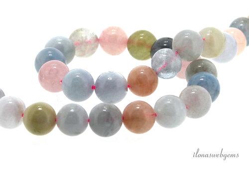 Morganite beads around 8.5mm