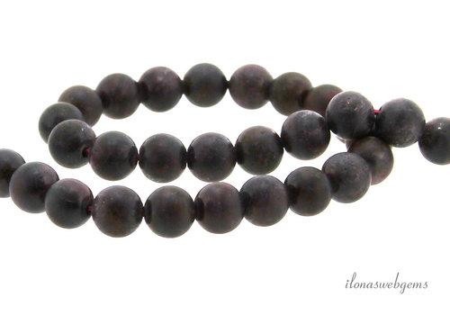 Garnet beads around mat about 6.5mm