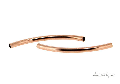 14k / 20 Rosé Goldfilled tube bead around 30x2mm