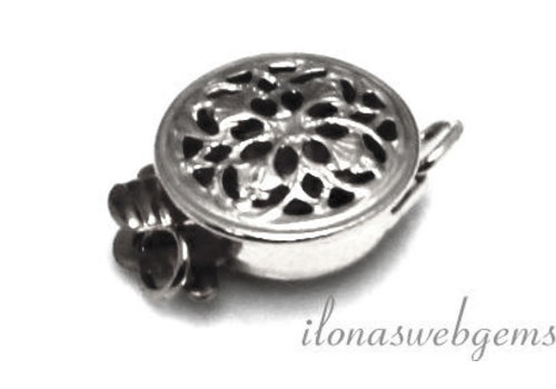 Sterling silver box lock filigree approx 9mm