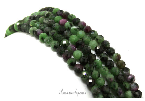 Ruby Zoisite beads facet around 4mm