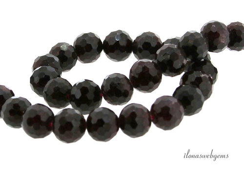 Garnet beads faceted around 8mm