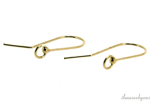 1 pair of Vermeil ear hooks about 25mm