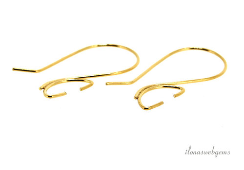 1 pair of Vermeil ear hooks about 30mm