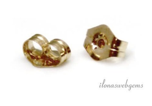 1 paar Gold filled puossettes ca. 4.5x4mm