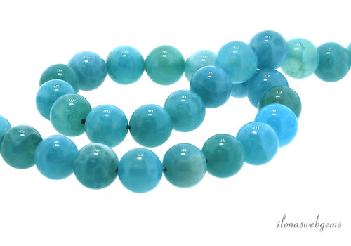 Blue Chalcedony / Crabagate beads about 6mm
