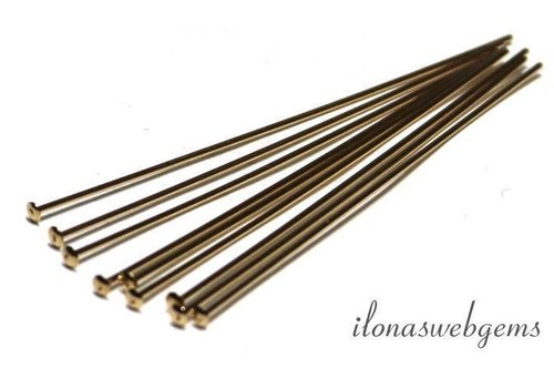 14k / 20 Gold filled head pin approx. 4x0.65mm with flat head