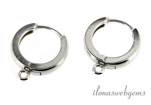 1 pair of Sterling silver creoles around 16x14 mm