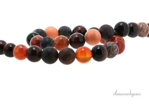 Red beads around mix around 8mm