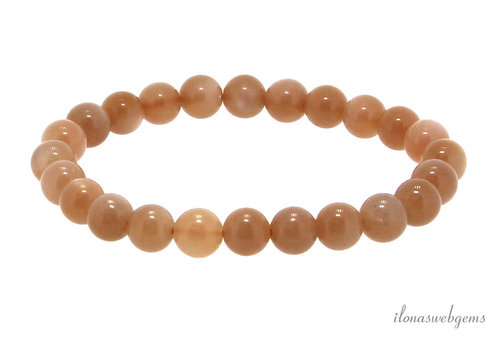 Orange moonstone bead bracelet approx 7.5mm