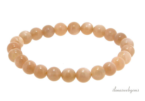 Orange moonstone bead bracelet approx 7.5mm