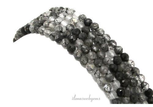 Rutilated quartz beads facet around 3mm
