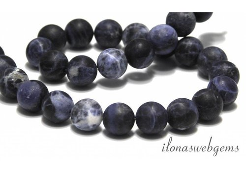 Sodalite beads matt around 8mm