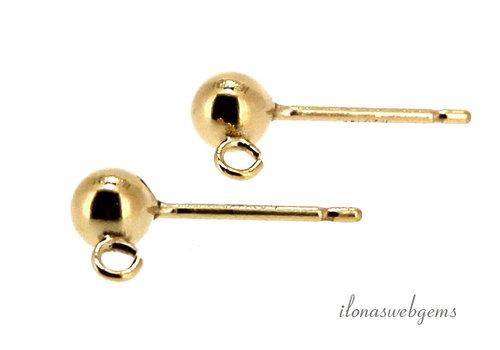 1 pair of 14k / 20 Gold filled stud earrings 4mm