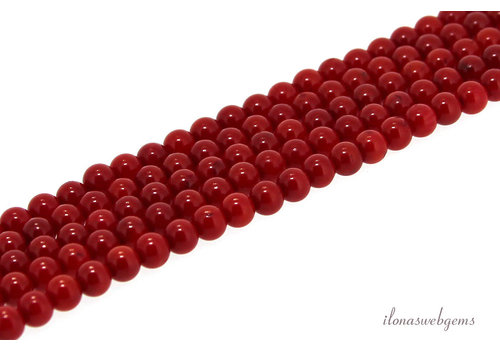 Red coral beads red around 3.5mm