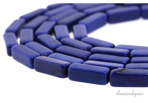 """Howliet vierkante staafjes """"Ocean blue"""" ca. 12x4x4mm"""