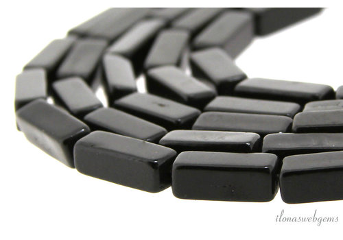 Howlite square bars black approx. 12x4x4mm