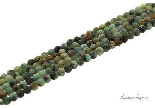 African Turquoise  kralen mini rond ca. 2mm