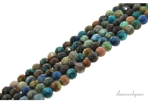 Chrysocolla beads Diamond cut around 4.5mm