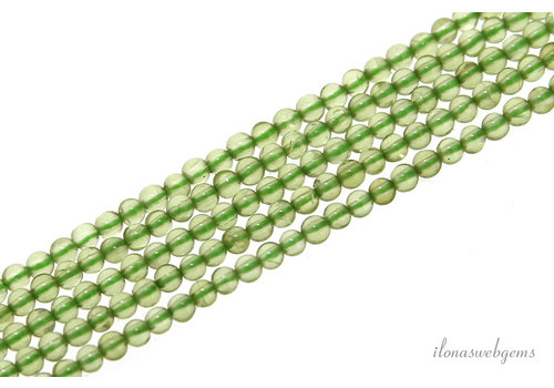 Peridot beads around mini around 2mm