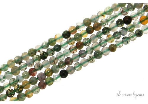 Indian Agate beads around mini around 2mm