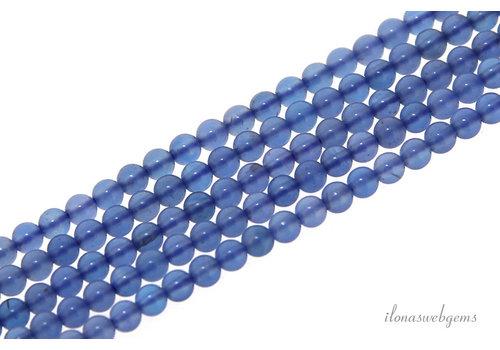 Blaue Achatperlen um Mini ca. 2mm
