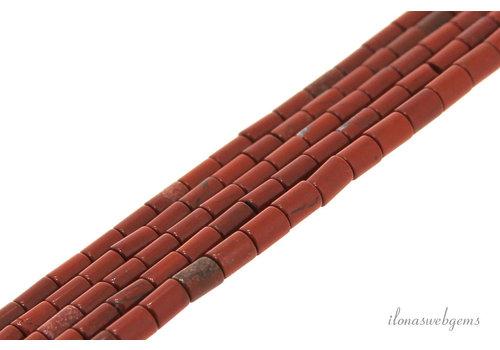 Red Jasper beads mini cylinder approx. 4x2mm
