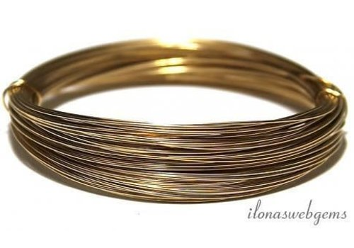 1cm 14k/20 Gold filled draad hard ca. 0.4mm / 26GA