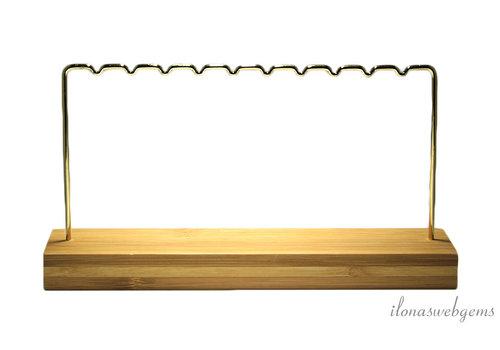 Bamboo jewelery display for earrings and pendants