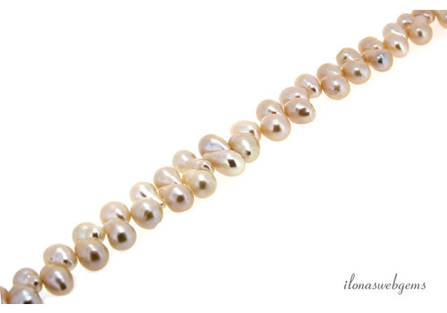 Freshwater pearl drops approx. 11x6mm