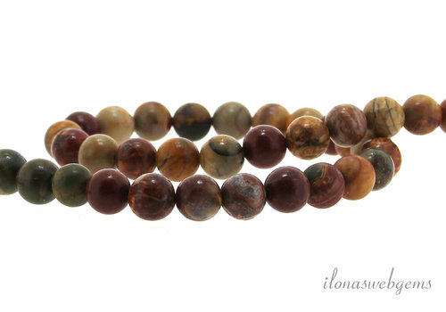 Picasso Jasper beads about 8mm
