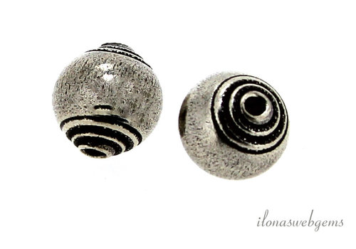 1x Hill tribe silver about 10mm