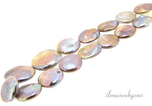 Freshwater pearls coin ascending and descending from approx. 18 to 26mm