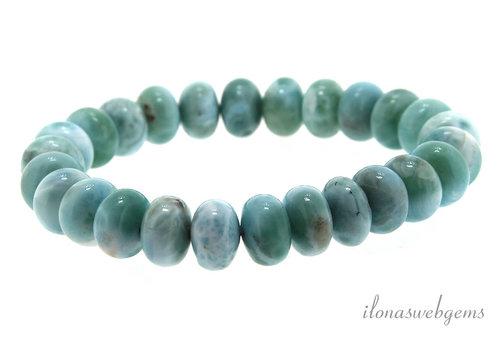 Larimar bead bracelet approx 9x3.5mm